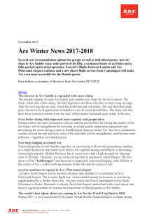 Åre Winter News 2017-2018