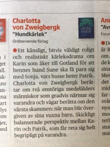 Förlagsnytt - Succé för diabeteshandboken! Hundkärlek i Dagens Nyheter och M Magasin tipsar om julböcker