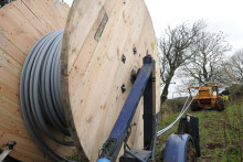 Northumberland engineers use technology, conservation and a fishing rod to bring fibre broadband to the county's most remote areas