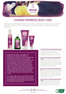 Samlingsblad Evening Primrose Body Care