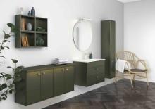 Nye baderomsmøbler i høstens heteste trendfarge