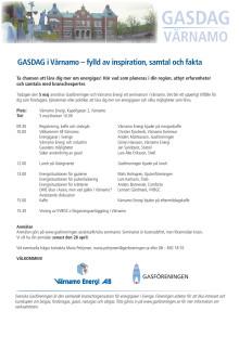 GASDAG i Värnamo – fylld av inspiration, samtal och fakta
