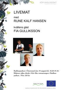 Inbjudan till Live-mat show i Badhusparken, Östersund 19/8 kl 18.00