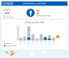 Inga omkomna inom passagerarflyget 2018
