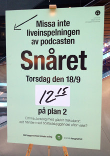 Svensk Byggtjänsts podcast Snåret spelas in live på Business Arena 18 september