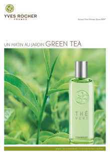 Pressinformation om - Yves Rochers nya doft Green Tea