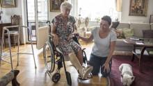 Hon fick hjälp av hemtagningsteamet efter olyckan