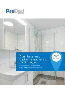 PreBad – 1 Stambyte med badrumsrenovering på tio dagar