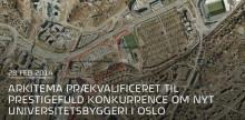 Arkitema er prækvalificeret i prestigefuld konkurrence om ny forsknings- og undervisningsbygning til Universitetet i  Oslo