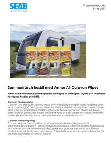 Sommarfräsch husbil med Armor All Caravan Wipes