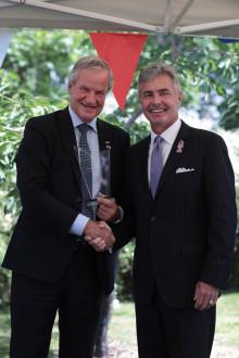 """Koncernchef i Norwegian Bjørn Kjos får """"Ambassador's Award"""" for sit bidrag til at styrke det bilaterale forhold mellem Norge og USA"""
