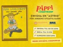 Saltkråkan startar insamling till förmån för Bris och SOS Barnbyar: Pippi Långstrump – alla ungars vän