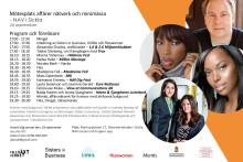 Kvinnor med bakgrund från Afrika pitchar sina affärsidéer