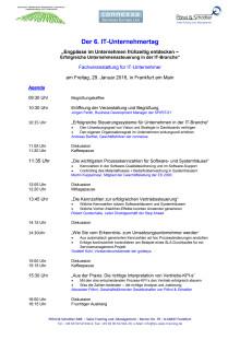 Programm des 6. IT Unternehmertages