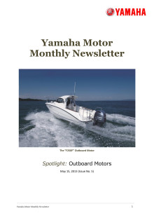 Yamaha Motor Monthly Newsletter No.5(May.2013) Outboard Motors