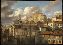Nyförvärv: Eugen Napoleon Neureuther, Utsikt mot Pincio och Palazzo Zuccari, Rom