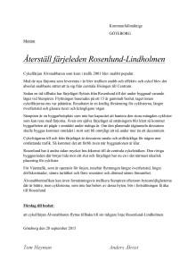 Motion - Återställ färjeleden Rosenlund-Lindholmen