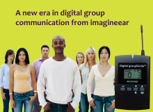 Bringing digital clarity to group communication, the imagineear Digital groupGuide™ raises the bar for tour groups, keeps groups engaged, saves guides' voices