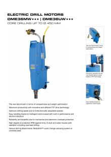TYROLIT Kärnborrmaskin DME36 PREMIUM MW/UW - KÄRNBORRNING UPP TILL Ø 450 MM