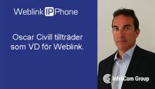 Oscar Civill tillträder som VD för Weblink IP Phone