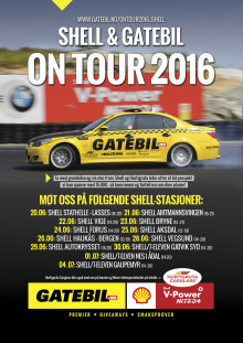 Hurtigruta Carglass, Gatebil og Shell on tour 2016