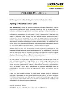 Pressemelding Kärcher Center Oslo (PDF)