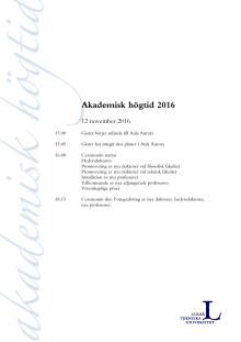 Akademisk högtid tider 12 november