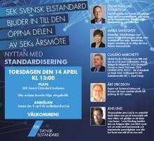 Nyttan med standardisering - Välkommen till den öppna delen av SEKs årsmöte