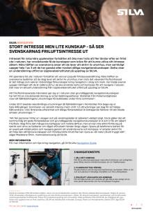 SILVA Pressmeddelande_Stort intresse men lite kunskap - så ser svenskarnas friluftsintresse ut_pdf-version