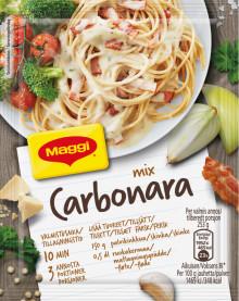 Pasta Carbonaran valmistaminen on vihdoin superhelppoa - Uusi Maggi Mix nyt kaupoissa