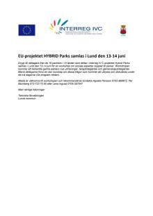 Program för workshop 13-14 juni 2012