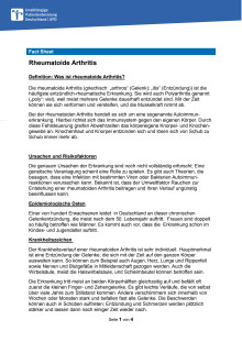 Fact Sheet Rheuma
