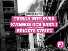 """F! lanserar asylkampanj """"Rösta feministiskt"""" inför riksdagens omröstning 21 juni"""