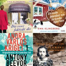 Historiska Media har fyra nominerade titlar till Storytel Awards