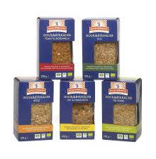 Tillskott av ekologiska gourmetknäcken i nya förpackningar