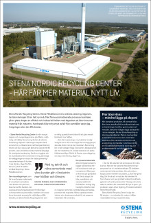 STENA NORDIC RECYCLING CENTER - HÄR FÅR MATERIALEN NYTT LIV
