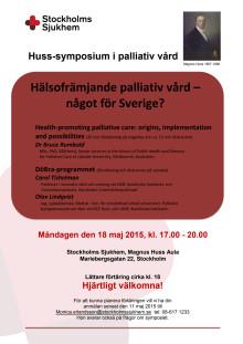 Huss symposium i palliativ vård - Inbjudan