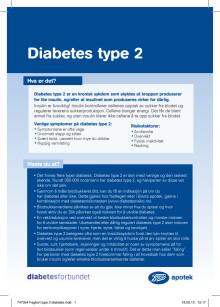 Fagkort Boots apotek - Diabetes type 2
