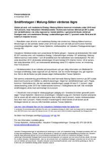 Värdebarometern 2015 Malung-Sälens kommun