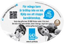 10.000 koppar för FN mot Barnäktenskap