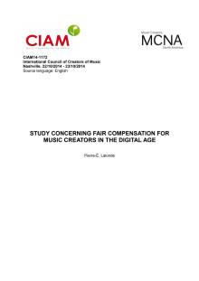 Fair Compensation for Music Creators in the Digital Age