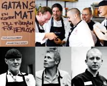 STJÄRNKOCKARNAS bästa recept! 700 kokböcker ges bort idag! Lansering av Gatans Mat till förmån för hemlösa. Gåvoekonomi.