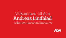 Aon välkomnar Andreas Lindblad som ny Account Executive