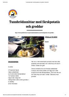 Tunnbrödssnittar med färskpotatis och timjan