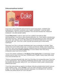 Historia: Coca-Cola ja elokuvat
