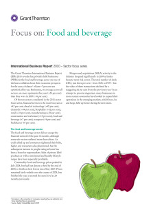 Food and Beverage - en branschrapport