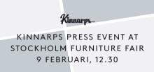 Välkommen till Kinnarps pressträff på Stockholm Furniture Fair