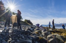 Hurtigruten med kjempedugnad: Rydder strender langs hele norskekysten