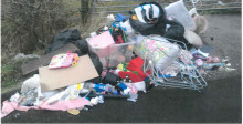 Man fined after household waste found fly-tipped