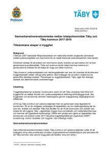 Samverkansöverenskommelse mellan Täby kommun och Polisen